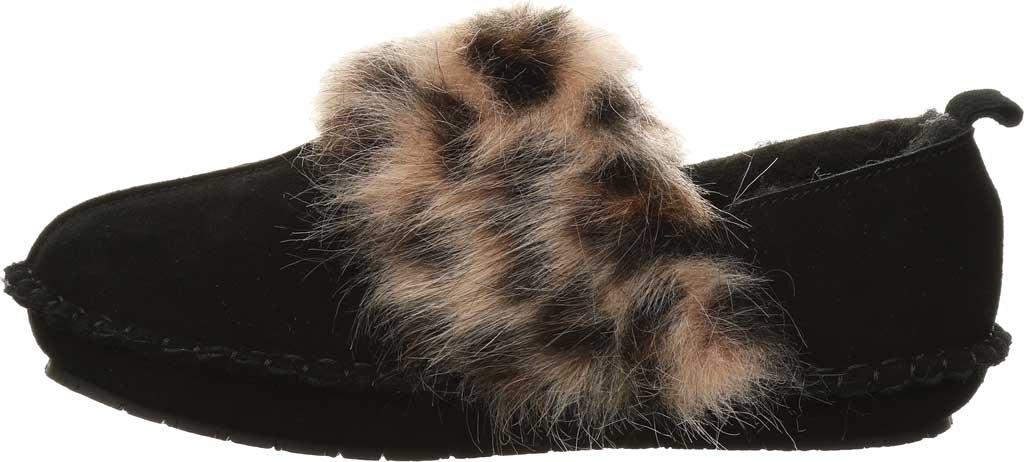 Women's Bearpaw Kimbertree Slipper, Black II/Leopard Suede, large, image 3