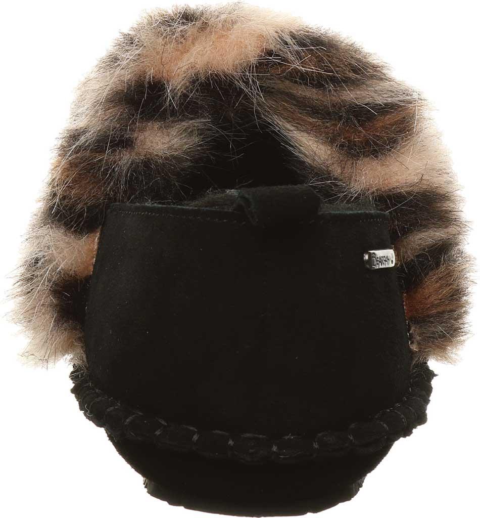 Women's Bearpaw Kimbertree Slipper, Black II/Leopard Suede, large, image 4