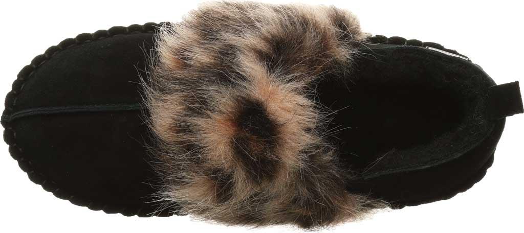 Women's Bearpaw Kimbertree Slipper, Black II/Leopard Suede, large, image 5