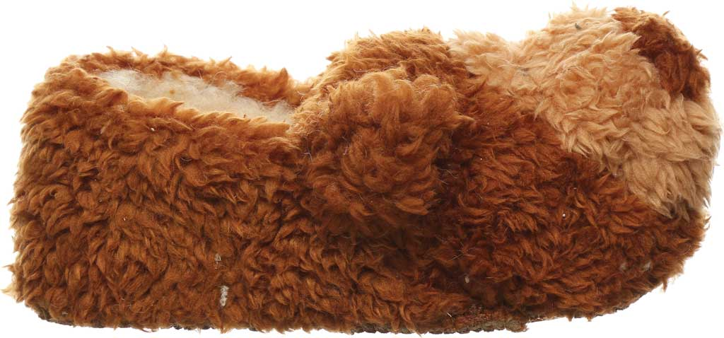 Infant Bearpaw Lil Critters Slipper, Brown Bear Faux Fur/Synthetic, large, image 2