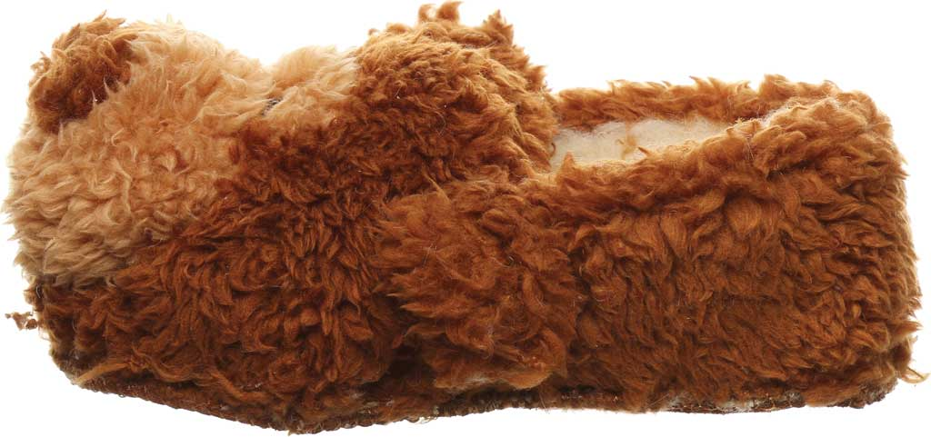 Infant Bearpaw Lil Critters Slipper, Brown Bear Faux Fur/Synthetic, large, image 3