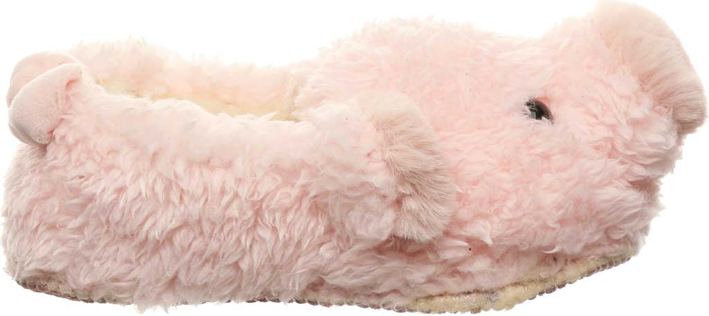 Infant Bearpaw Lil Critters Slipper, Pink Pig Faux Fur/Synthetic, large, image 2