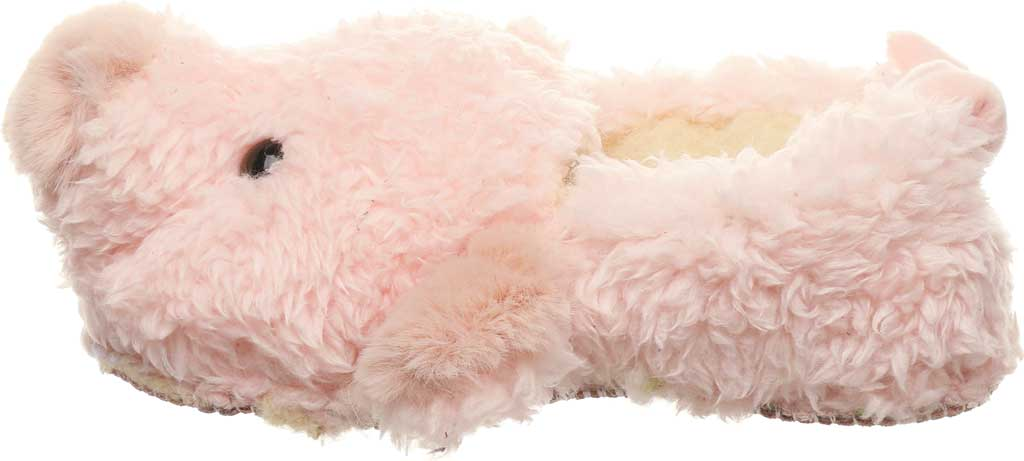 Infant Bearpaw Lil Critters Slipper, Pink Pig Faux Fur/Synthetic, large, image 3