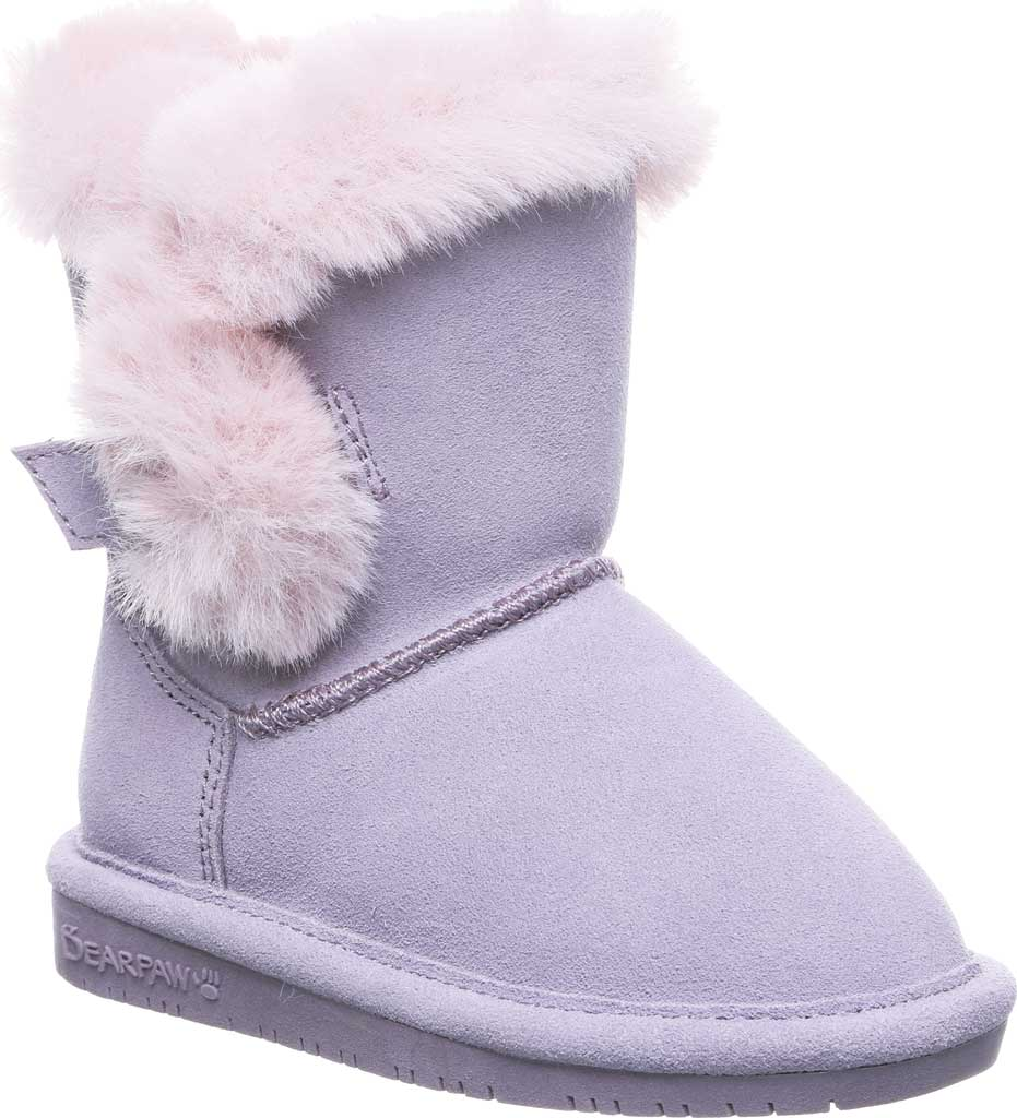 Infant Girls' Bearpaw Betsey Toddler Pull On Boot, Wisteria Suede/Faux Fur, large, image 1