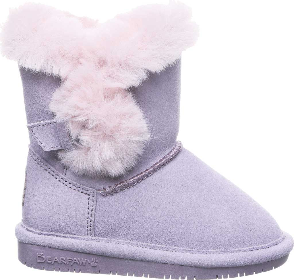 Infant Girls' Bearpaw Betsey Toddler Pull On Boot, Wisteria Suede/Faux Fur, large, image 2