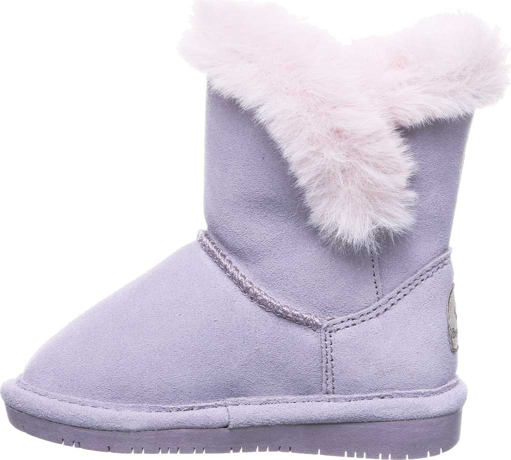 Infant Girls' Bearpaw Betsey Toddler Pull On Boot, Wisteria Suede/Faux Fur, large, image 3