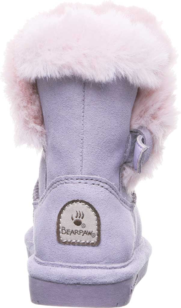 Infant Girls' Bearpaw Betsey Toddler Pull On Boot, Wisteria Suede/Faux Fur, large, image 4