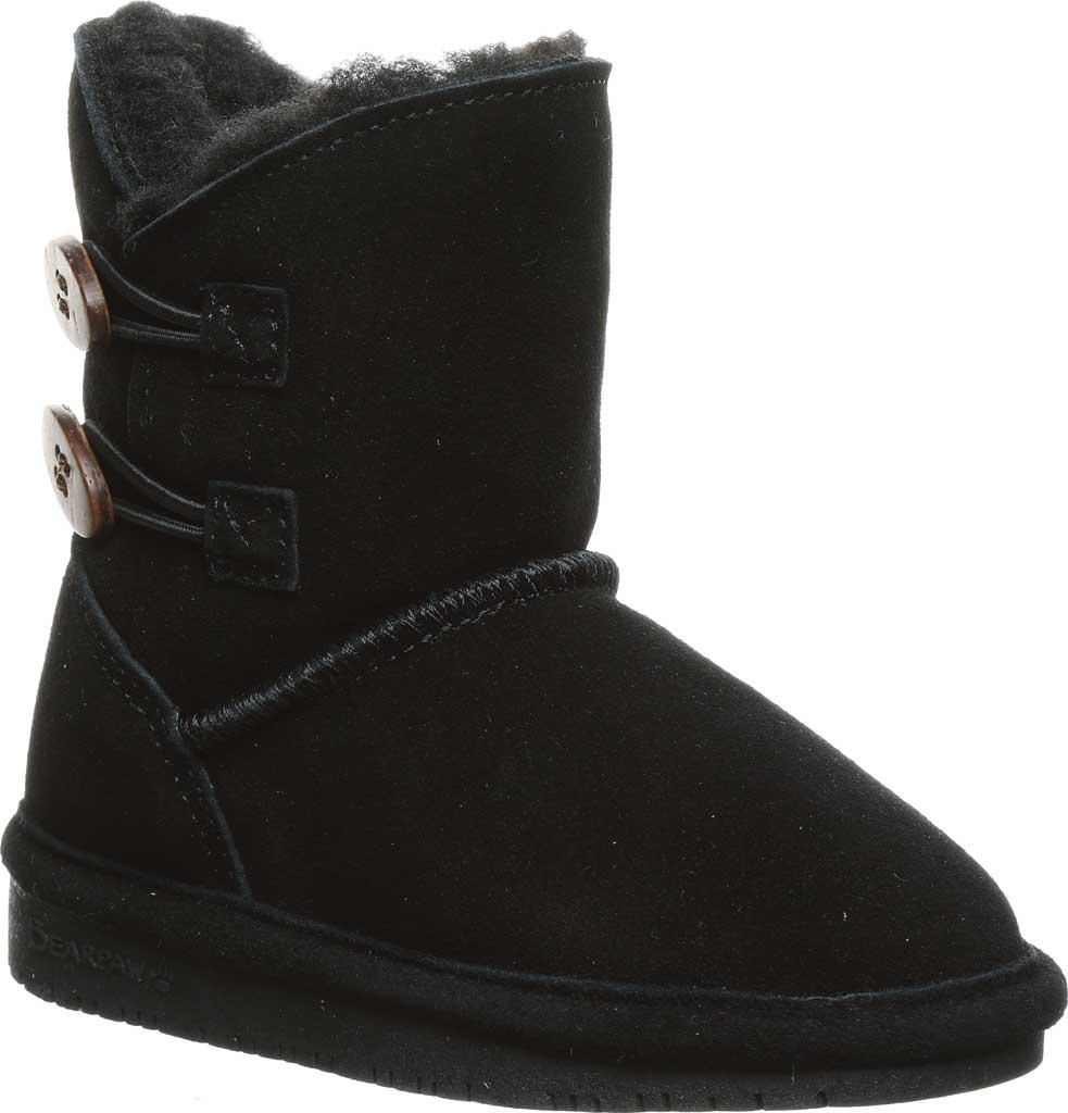 Infant Girls' Bearpaw Rosaline Toddler Toggle Boot, Black II Suede, large, image 1