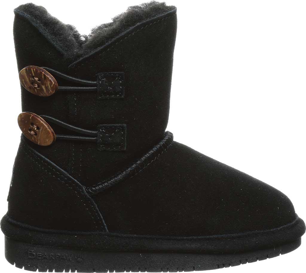Infant Girls' Bearpaw Rosaline Toddler Toggle Boot, Black II Suede, large, image 2