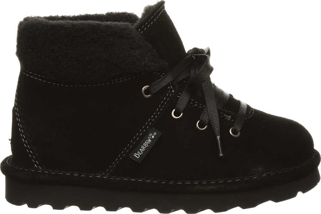 Children's Bearpaw Marta Youth Lace Up Boot, Black II Suede, large, image 2