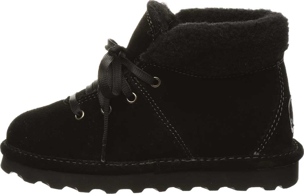 Children's Bearpaw Marta Youth Lace Up Boot, Black II Suede, large, image 3