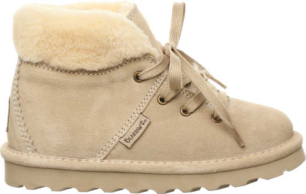 Children's Bearpaw Marta Youth Lace Up Boot, Oat Suede, large, image 2