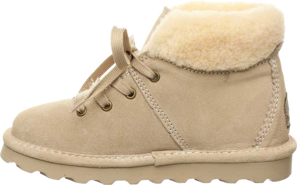 Children's Bearpaw Marta Youth Lace Up Boot, Oat Suede, large, image 3