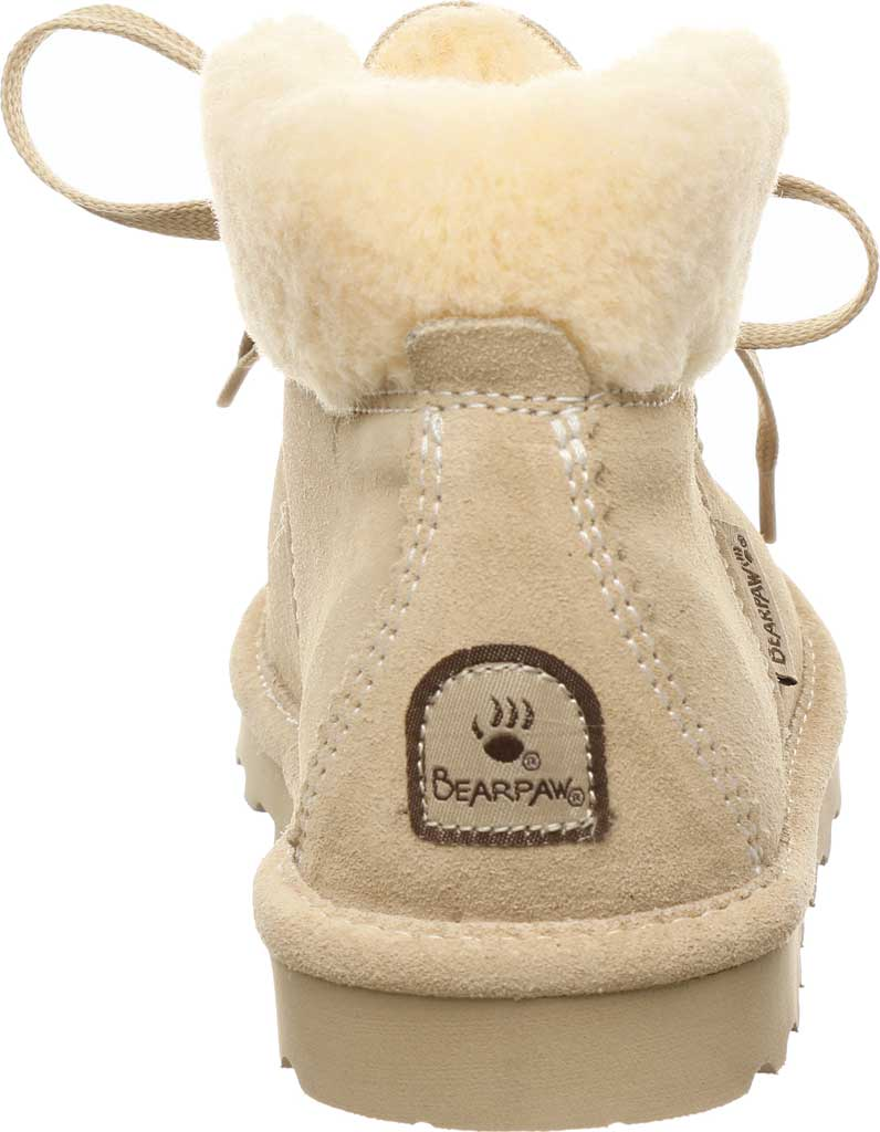 Children's Bearpaw Marta Youth Lace Up Boot, Oat Suede, large, image 4