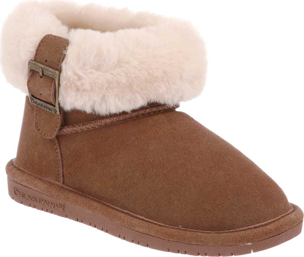 Children's Bearpaw Abby Youth Ankle Boot, Chocolate Suede, large, image 1