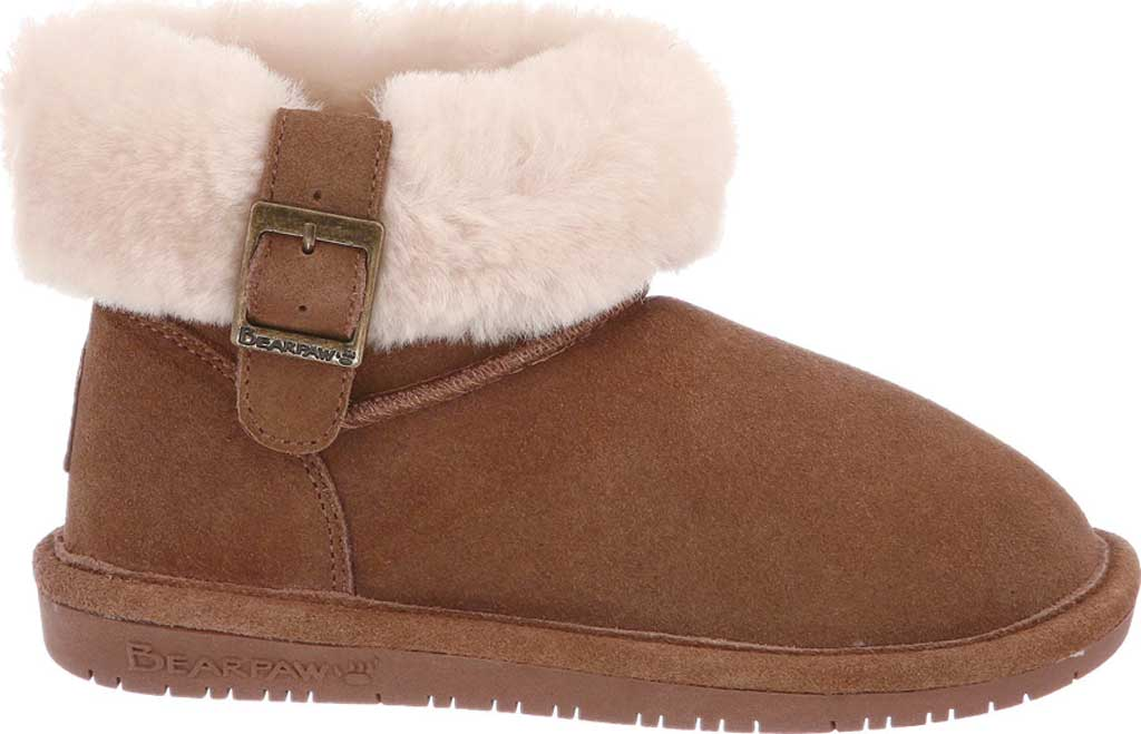 Children's Bearpaw Abby Youth Ankle Boot, Chocolate Suede, large, image 2
