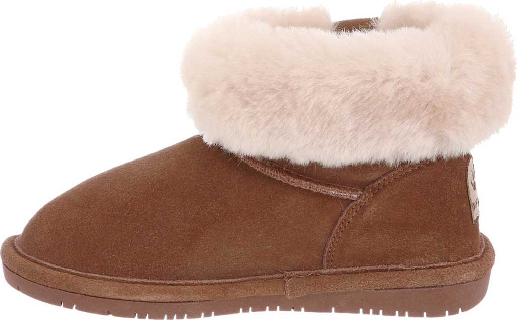 Children's Bearpaw Abby Youth Ankle Boot, Chocolate Suede, large, image 3