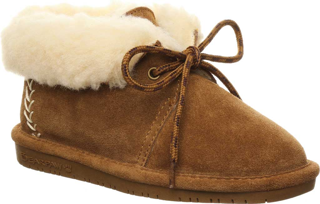 Children's Bearpaw Kory Youth Moccasin Bootie, Hickory II Suede, large, image 1