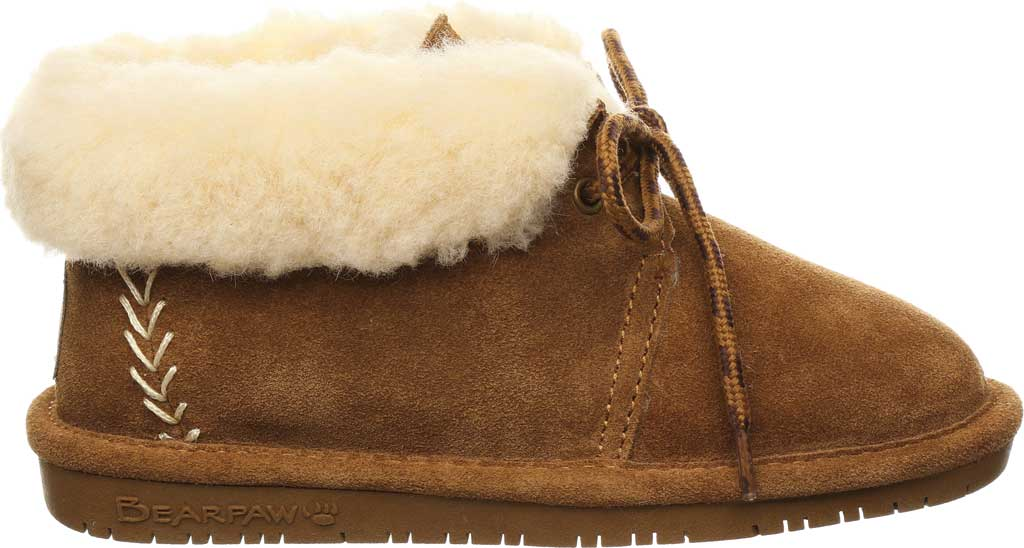 Children's Bearpaw Kory Youth Moccasin Bootie, Hickory II Suede, large, image 2