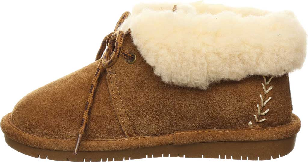 Children's Bearpaw Kory Youth Moccasin Bootie, Hickory II Suede, large, image 3
