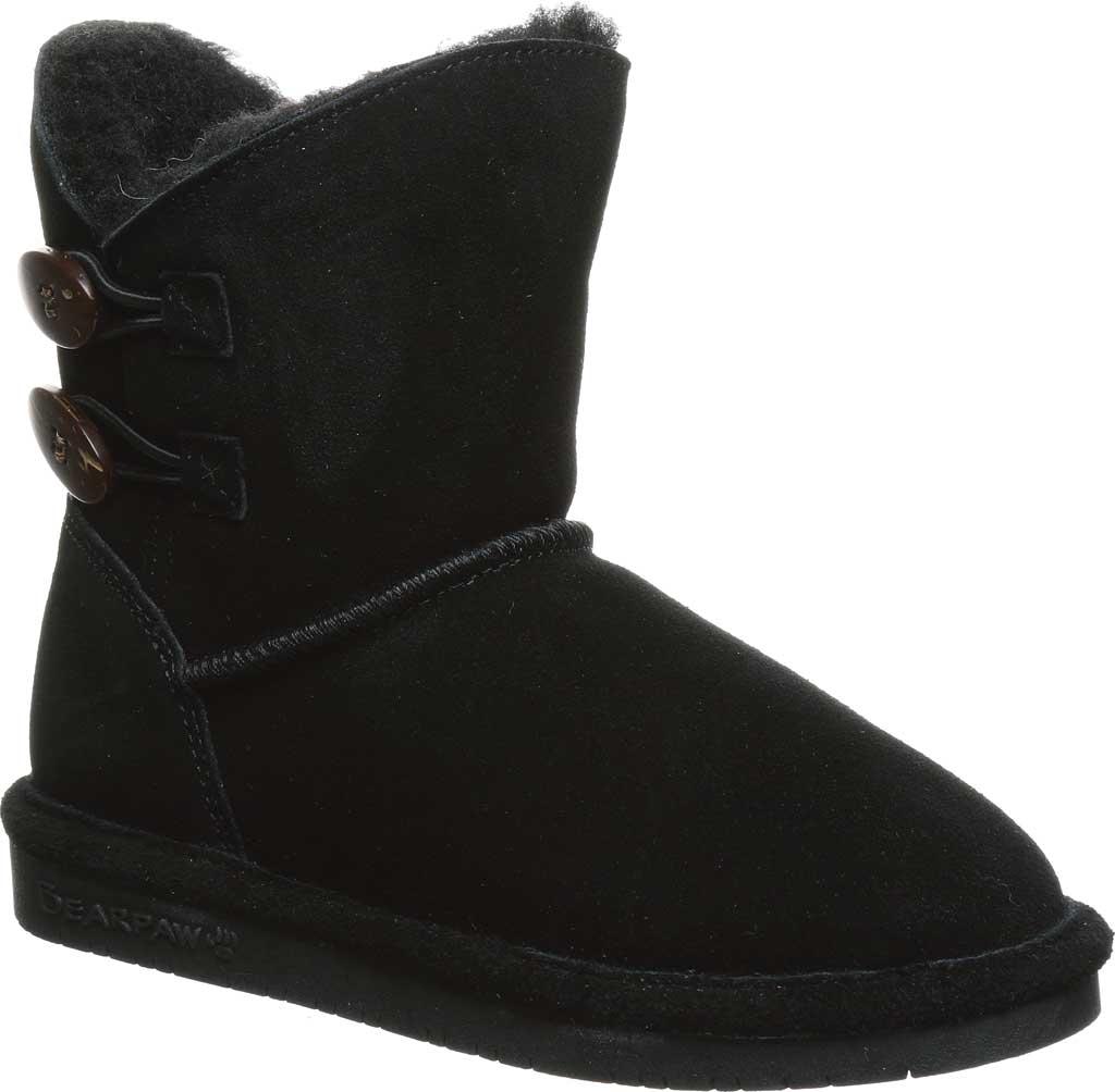 Girls' Bearpaw Rosaline Youth Toggle Boot, Black II Suede, large, image 1