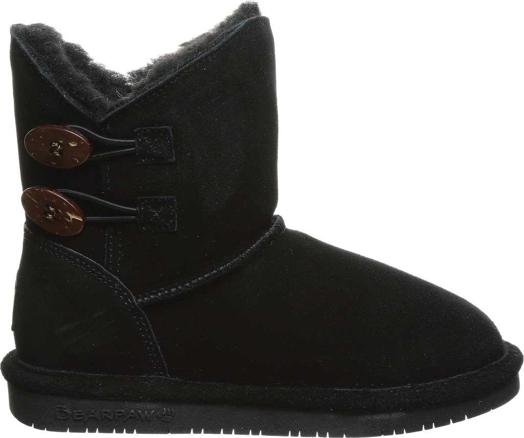 Girls' Bearpaw Rosaline Youth Toggle Boot, Black II Suede, large, image 2