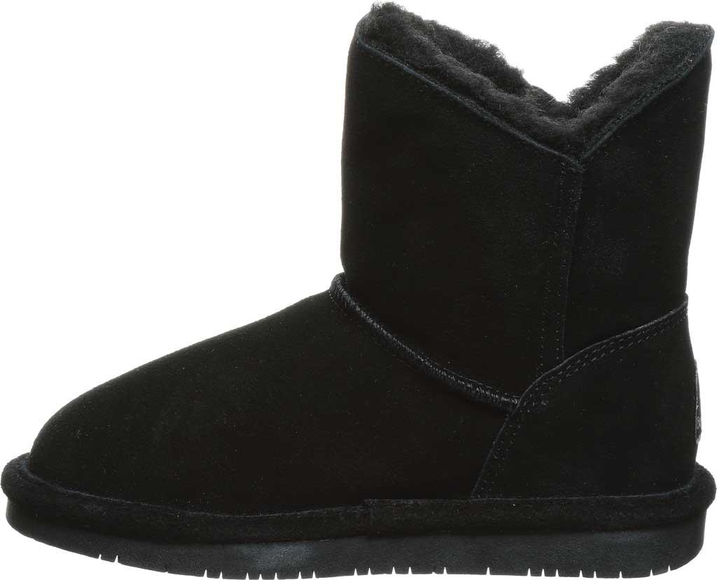 Girls' Bearpaw Rosaline Youth Toggle Boot, Black II Suede, large, image 3