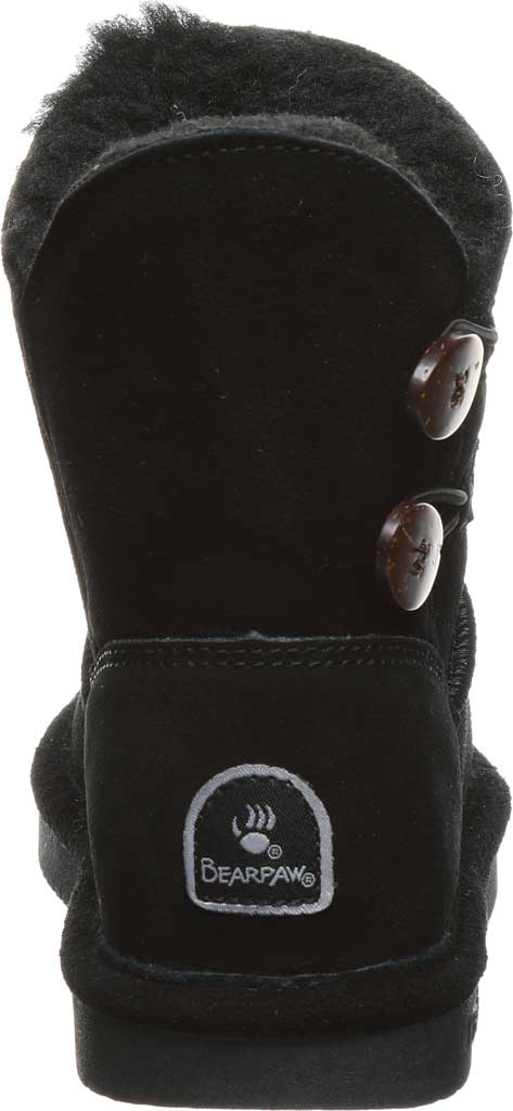 Girls' Bearpaw Rosaline Youth Toggle Boot, Black II Suede, large, image 4