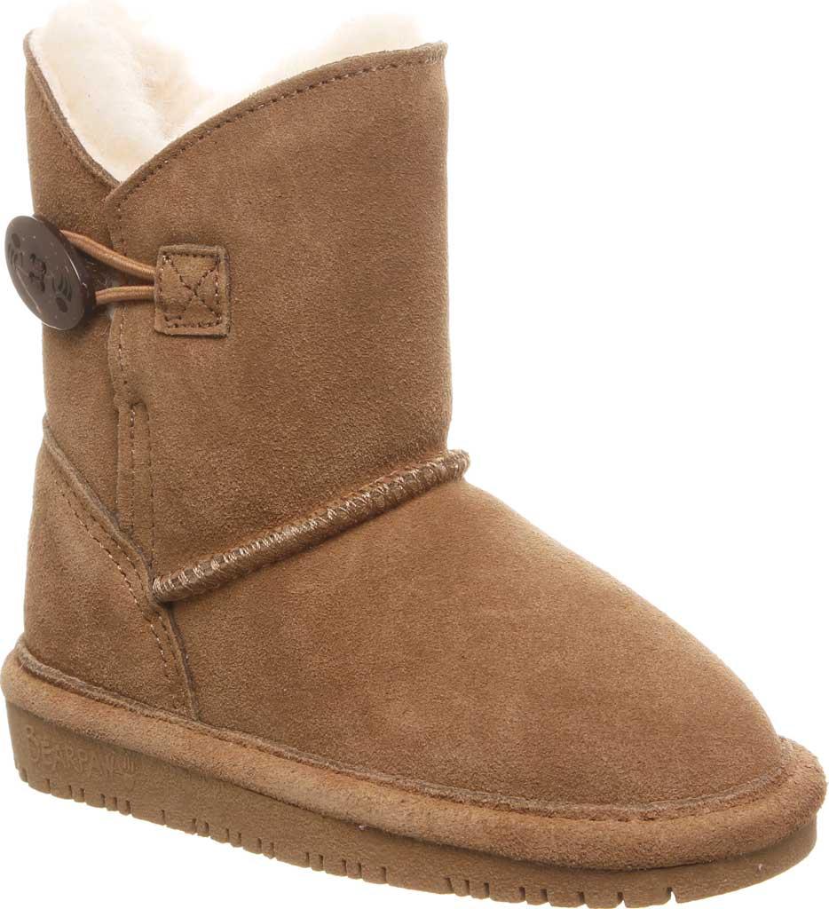 Girls' Bearpaw Rosaline Youth Toggle Boot, Hickory II Suede, large, image 1