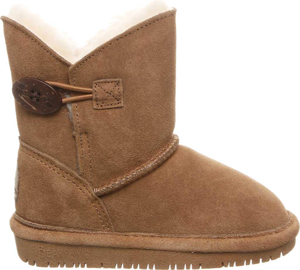 Girls' Bearpaw Rosaline Youth Toggle Boot, Hickory II Suede, large, image 2