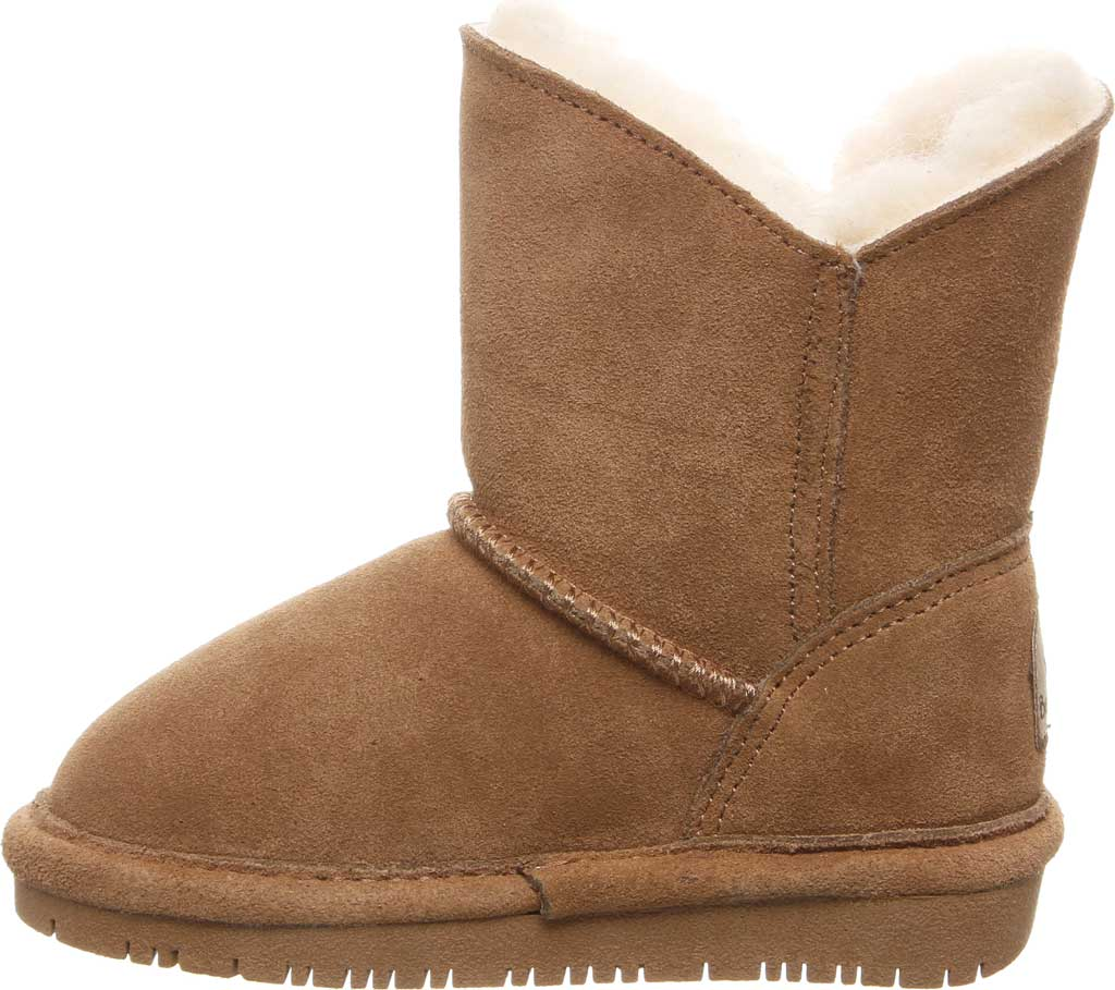 Girls' Bearpaw Rosaline Youth Toggle Boot, Hickory II Suede, large, image 3