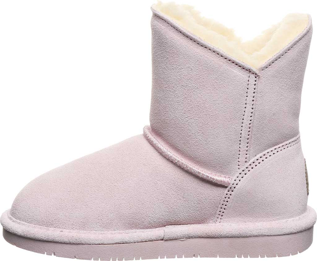 Girls' Bearpaw Rosaline Youth Toggle Boot, Pale Pink Suede, large, image 3