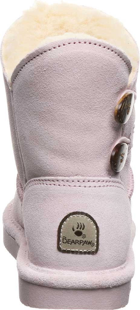 Girls' Bearpaw Rosaline Youth Toggle Boot, Pale Pink Suede, large, image 4