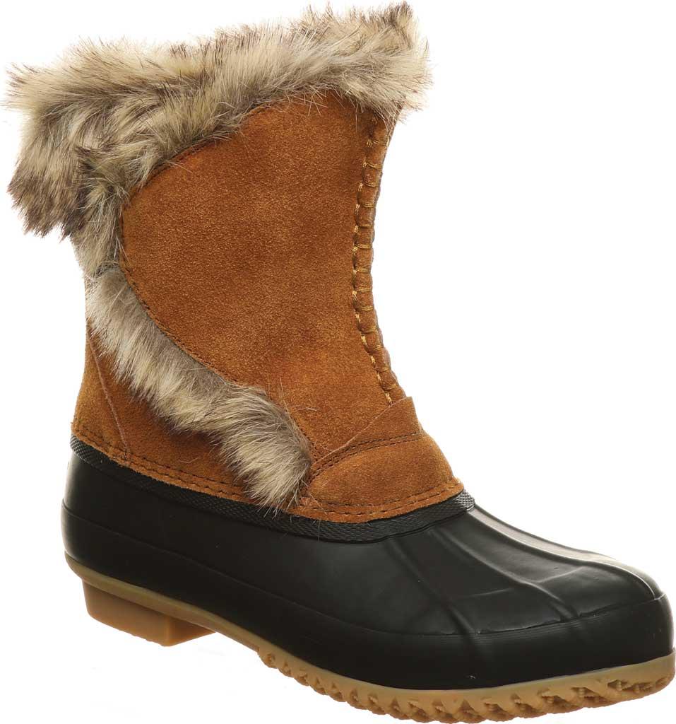 Women's Bearpaw Deborah Waterproof Duck Boot, Hickory II Suede, large, image 1