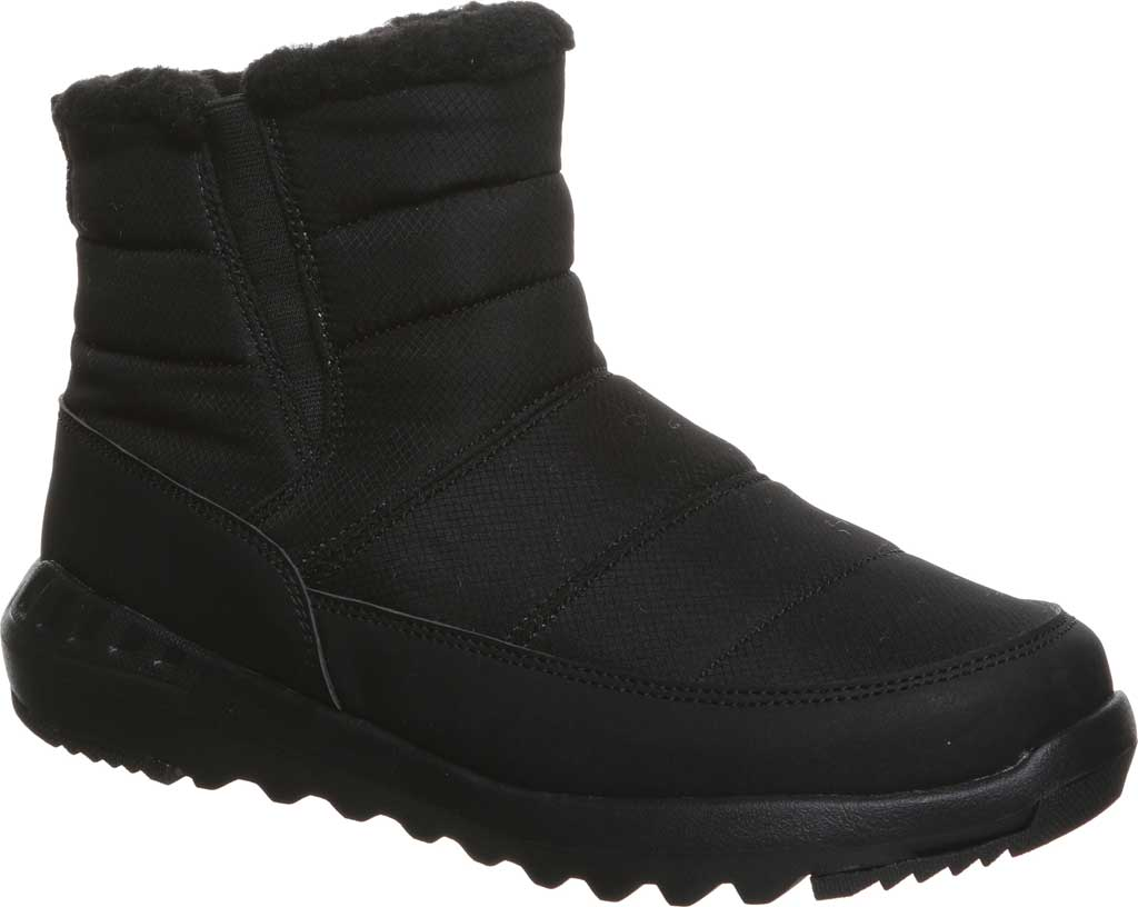 Women's Bearpaw Puffy Quilted Ankle Bootie, Black II Nylon, large, image 1