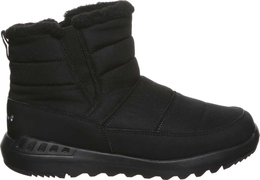 Women's Bearpaw Puffy Quilted Ankle Bootie, Black II Nylon, large, image 2