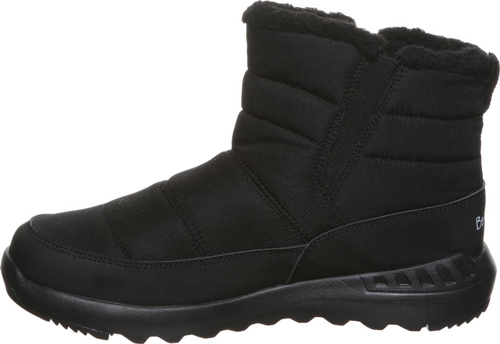 Women's Bearpaw Puffy Quilted Ankle Bootie, Black II Nylon, large, image 3