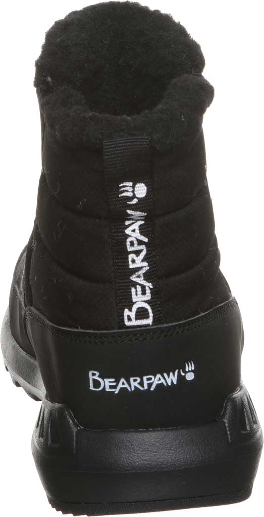Women's Bearpaw Puffy Quilted Ankle Bootie, Black II Nylon, large, image 4