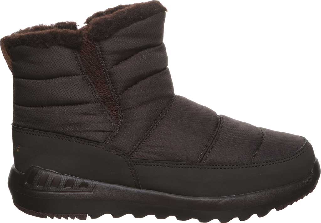 Women's Bearpaw Puffy Quilted Ankle Bootie, Brown Nylon, large, image 2