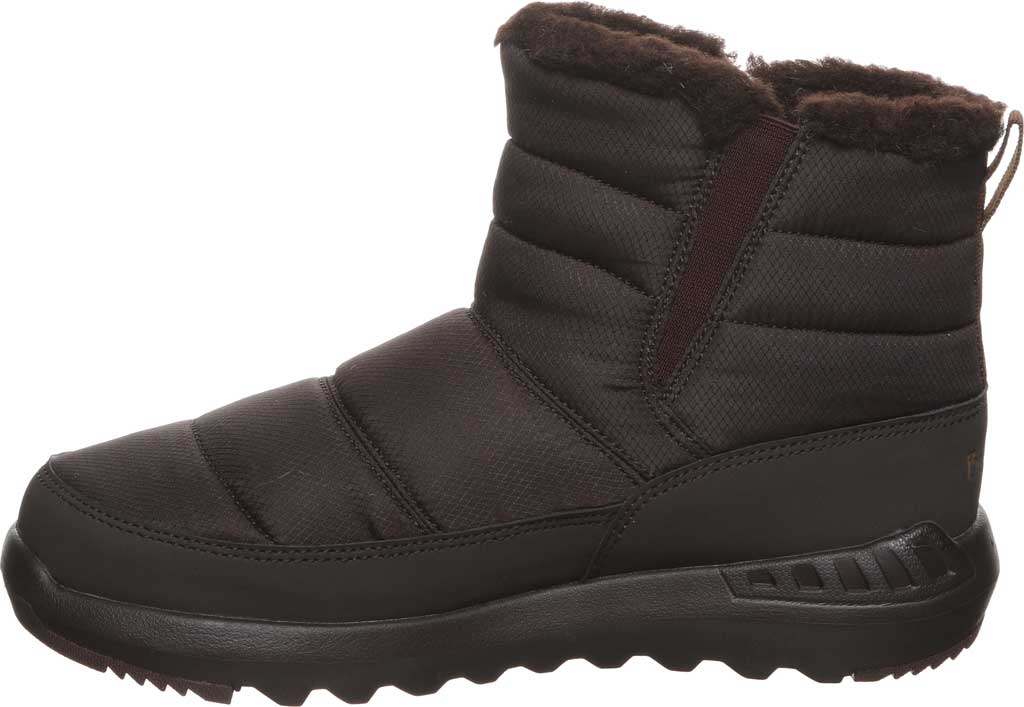 Women's Bearpaw Puffy Quilted Ankle Bootie, Brown Nylon, large, image 3