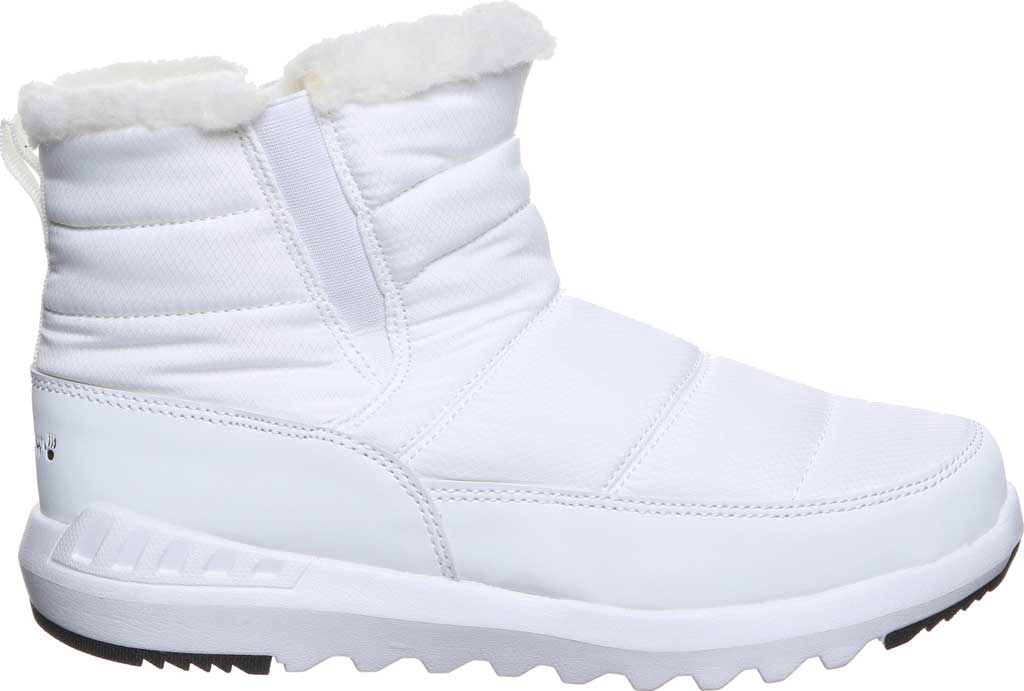 Women's Bearpaw Puffy Quilted Ankle Bootie, White Nylon, large, image 2