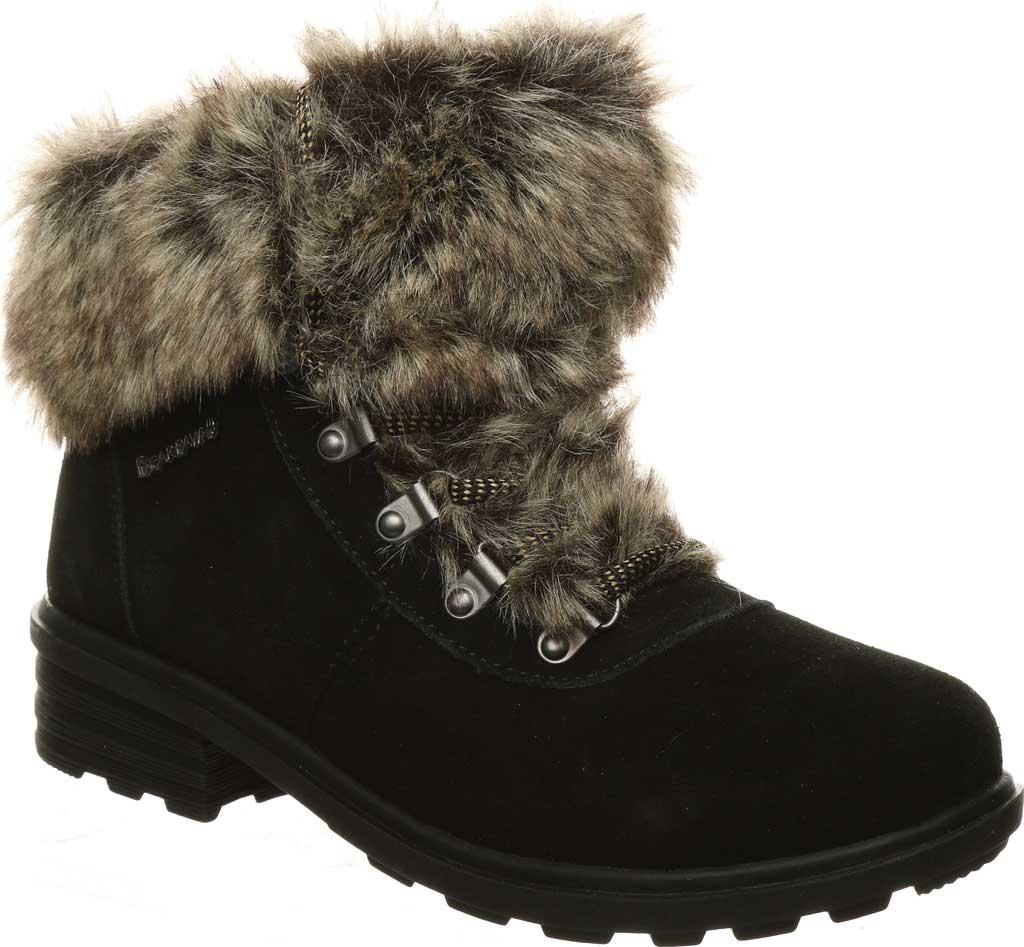 Women's Bearpaw Serenity Winter Bootie, Black II Suede, large, image 1