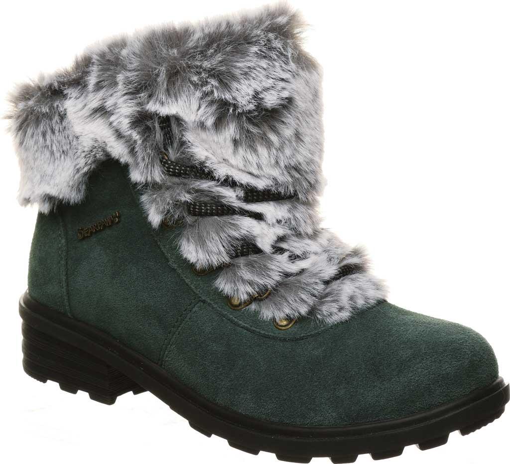 Women's Bearpaw Serenity Winter Bootie, Dark Green Suede, large, image 1