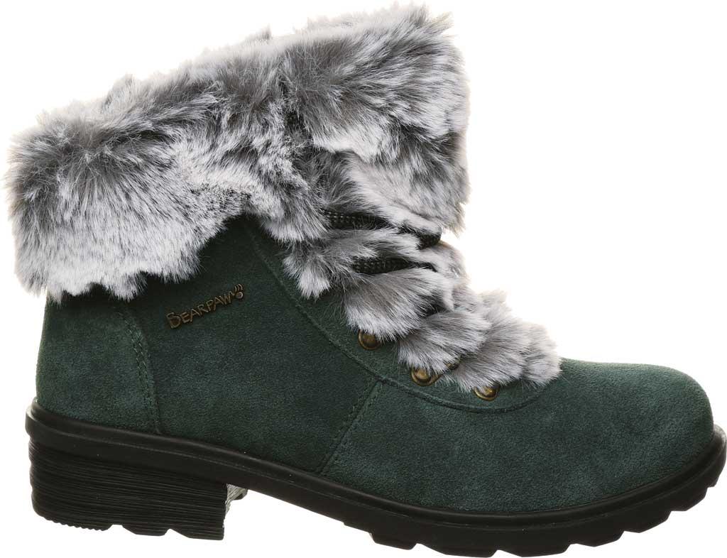Women's Bearpaw Serenity Winter Bootie, Dark Green Suede, large, image 2