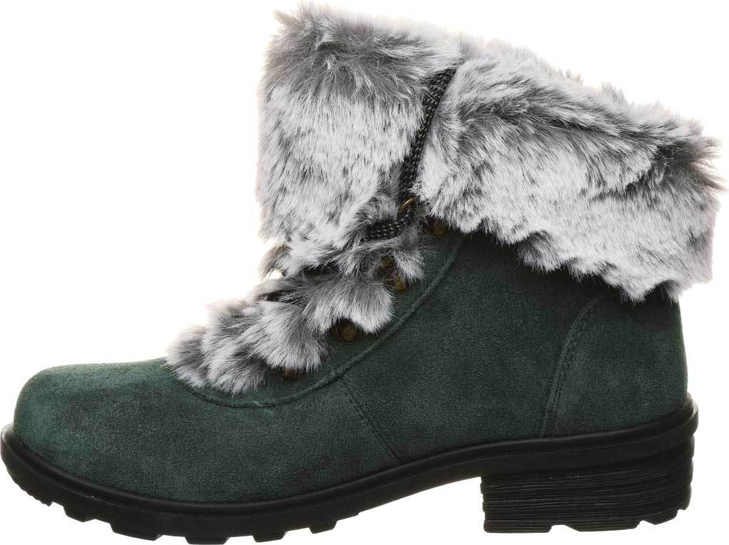 Women's Bearpaw Serenity Winter Bootie, Dark Green Suede, large, image 3