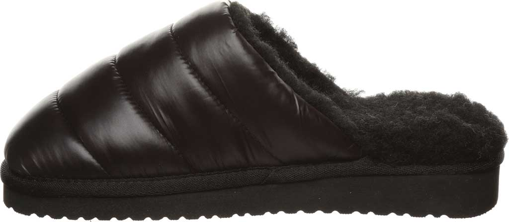 Women's Bearpaw Puffy Scuff Slipper, Black II Nylon, large, image 3