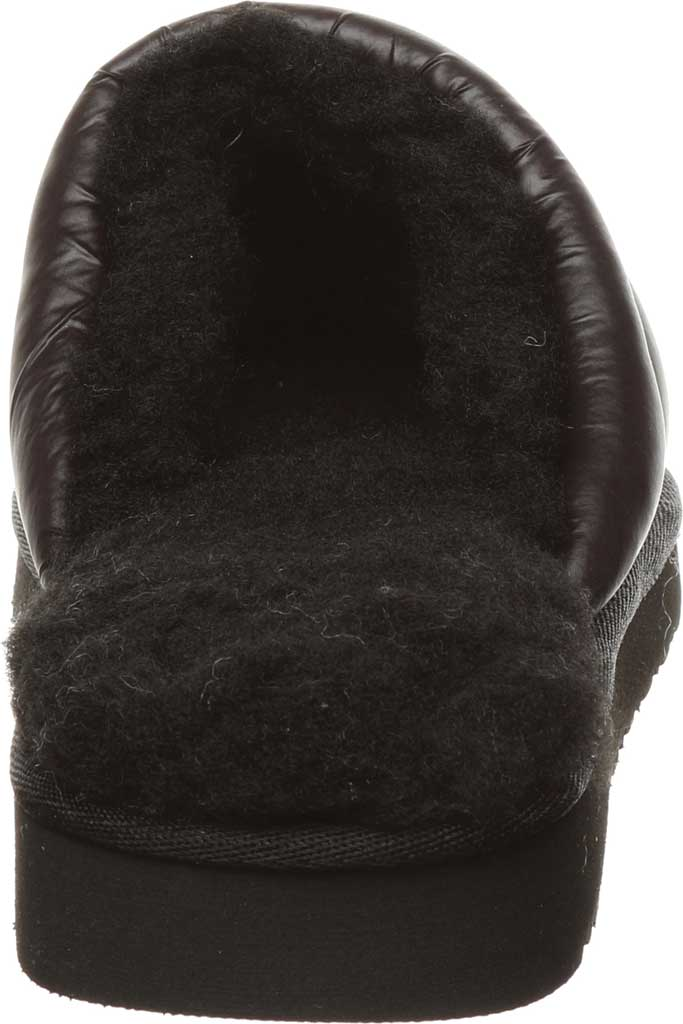 Women's Bearpaw Puffy Scuff Slipper, Black II Nylon, large, image 4