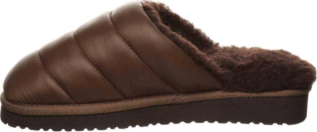 Women's Bearpaw Puffy Scuff Slipper, Brown Nylon, large, image 3