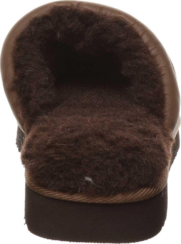 Women's Bearpaw Puffy Scuff Slipper, Brown Nylon, large, image 4