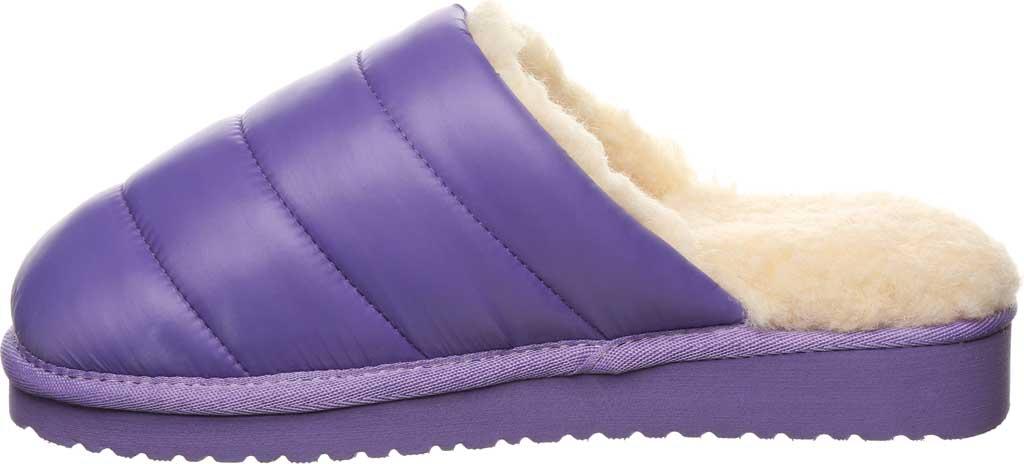 Women's Bearpaw Puffy Scuff Slipper, Purple Nylon, large, image 3